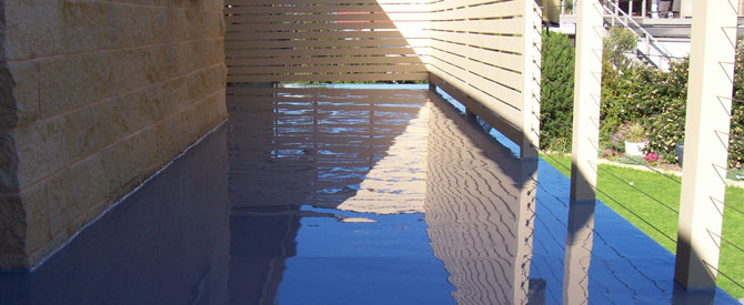 Roof decks and balconies waterproofing